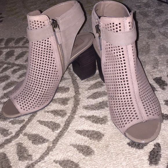 14th and Union perforated stone block heel sandals